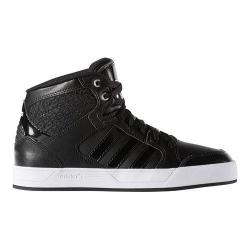 Women's adidas BBNEO Raleigh Mid Basketball Shoe Black/Black/White