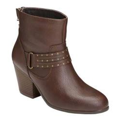Women's Aerosoles Longevity Ankle Boot Brown Faux Leather