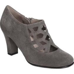 Women's Aerosoles Petroleum Bootie Grey Faux Suede
