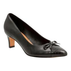 Women's Clarks Crewso Calica Pump Black Sheep Full Grain Leather/Cow Leather