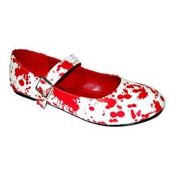 Women's Funtasma Bloody 16 White Patent/Red Blood
