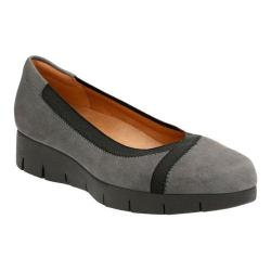 Women's Clarks Daelyn Hill Wedge Heel Grey Goat Suede/Textile