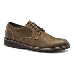 Men's Dockers Traymore Plain Toe Derby Brown Milled Leather