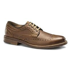 Men's Dockers Yaleton Wingtip Derby Dark Tan Crazy Horse Leather