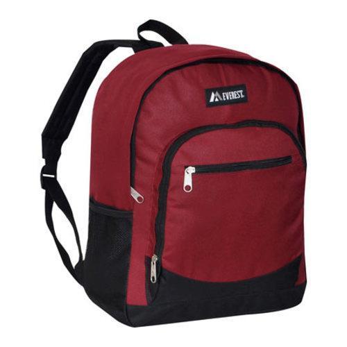 Everest Casual Mesh Pocket Backpack Burgundy/Black