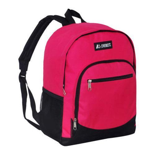 Everest Casual Mesh Pocket Backpack Hot Pink/Black