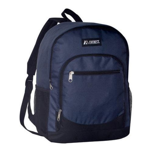 Everest Casual Mesh Pocket Backpack Navy/Black - Thumbnail 0