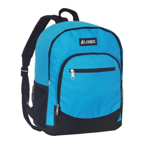 Everest Casual Mesh Pocket Backpack Turquoise/Black - Thumbnail 0
