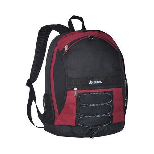 Everest Two-Tone Backpack (Set of 2) Burgundy/Black