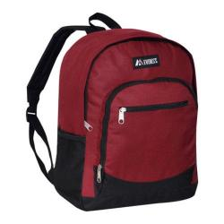 Everest Casual Mesh Pocket Backpack Burgundy/Black