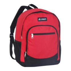 Everest Casual Mesh Pocket Backpack Red/Black