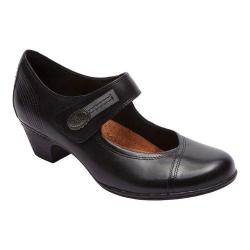 Women's Rockport Cobb Hill Abigail Mary Jane Black Leather