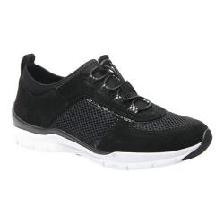 Women's Ros Hommerson Flynn Bungee Lace Sneaker Black Leather/Mesh