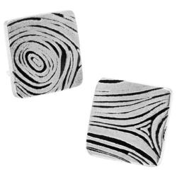 Men's Cufflinks Inc Pewter Woodgrain Cufflinks Silver