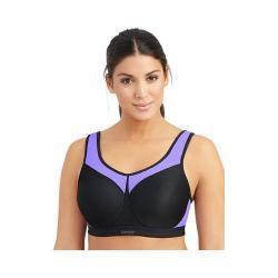 Women's Glamorise High Impact Underwire Sports Bra Black/Purple