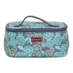 Women's Hadaki by Kalencom Train Cosmetic Case Floral Vegan Leather