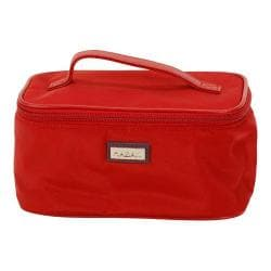 Women's Hadaki by Kalencom Train Cosmetic Case Rhubarb Nylon