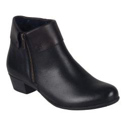 Women's Remonte Alani Zipper Bootie Black/Havanna Leather