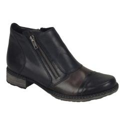 Women's Remonte Chandra D4377 Patchwork Ankle Boot Black/Graphit/Lake