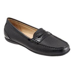 Women's Trotters Staci Moccasin Black/Black Leather