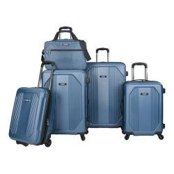 US Traveler Bloomington 5-Piece Spinner Luggage Set Blue