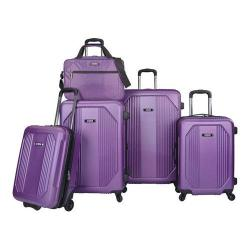 US Traveler Bloomington 5-Piece Spinner Luggage Set Purple