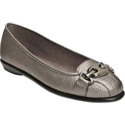 Women's A2 by Aerosoles In Between Flat Dark Silver Metal Faux Leather