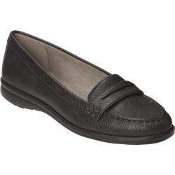 Women's Aerosoles Limon Tree Penny Loafer Black Faux Leather