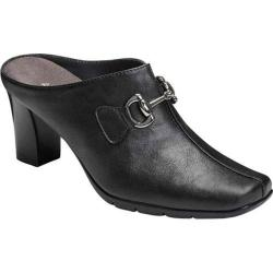 Women's Aerosoles Montana Mule Black Faux Leather