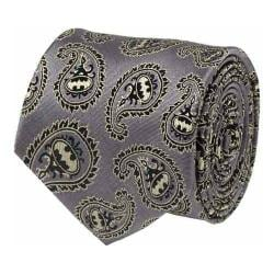 Men's Cufflinks Inc Batman Paisley Tie Gray