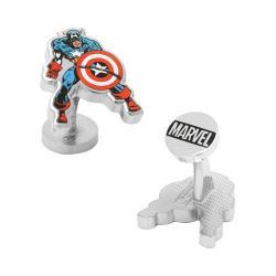 Men's Cufflinks Inc Captain America Action Cufflinks Multi