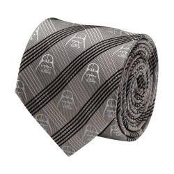 Men's Cufflinks Inc Darth Vader Plaid Tie Gray