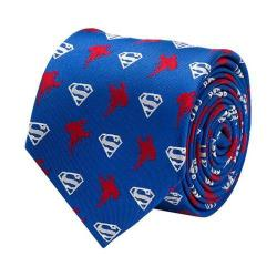 Men's Cufflinks Inc Flying Superman Tie Blue