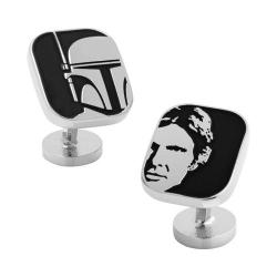 Men's Cufflinks Inc Han Solo and Boba Fett Cufflinks Black