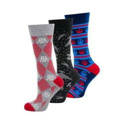 Men's Cufflinks Inc Intergalactic Battle Socks 3-Pair Gift Set Multi