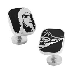 Men's Cufflinks Inc Luke and Yoda Cufflinks Black