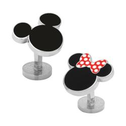 Men's Cufflinks Inc Mickey and Minnie Mouse Cufflinks Black