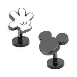 Men's Cufflinks Inc Mickey Mouse Helping Hand Cufflinks Black