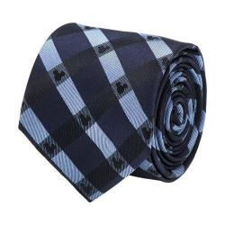Men's Cufflinks Inc Mickey Mouse Plaid Tie Blue