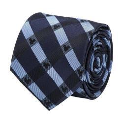 Men's Cufflinks Inc Mickey Mouse Plaid Tie Blue