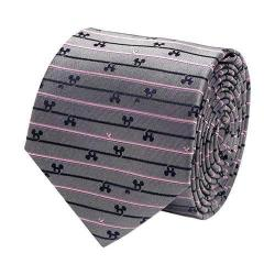 Men's Cufflinks Inc Mickey Mouse Striped Tie Gray