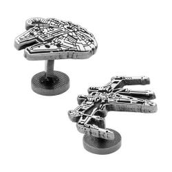 Men's Cufflinks Inc Millennium Falcon and X-Wing Cufflinks Silver