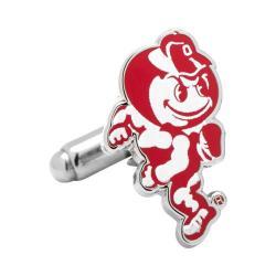 Men's Cufflinks Inc Ohio State University Brutus Cufflinks Red