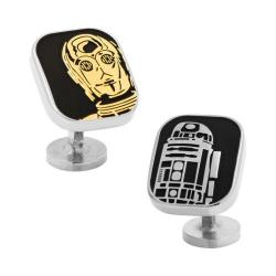 Men's Cufflinks Inc R2D2 and C3PO Cufflinks Black