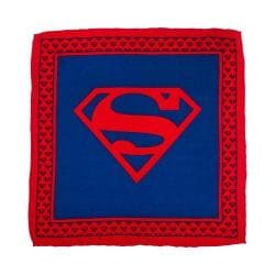 Men's Cufflinks Inc Superman Shield Silk Pocket Square Red