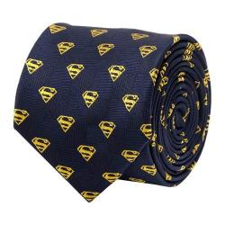 Men's Cufflinks Inc Superman Shield Tie Navy