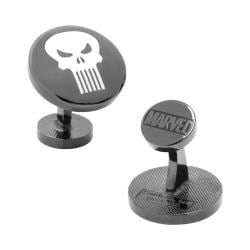 Men's Cufflinks Inc The Punisher Cufflinks Black