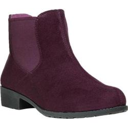 Women's Propet Scout Chelsea Boot Burgundy Velour