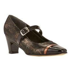 Women's Rose Petals by Walking Cradles Radiant Mary Jane Black & Brown Lizard Print/Black Patent