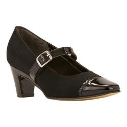 Women's Rose Petals by Walking Cradles Radiant Mary Jane Black Micro/Black Snake Print/Black Patent